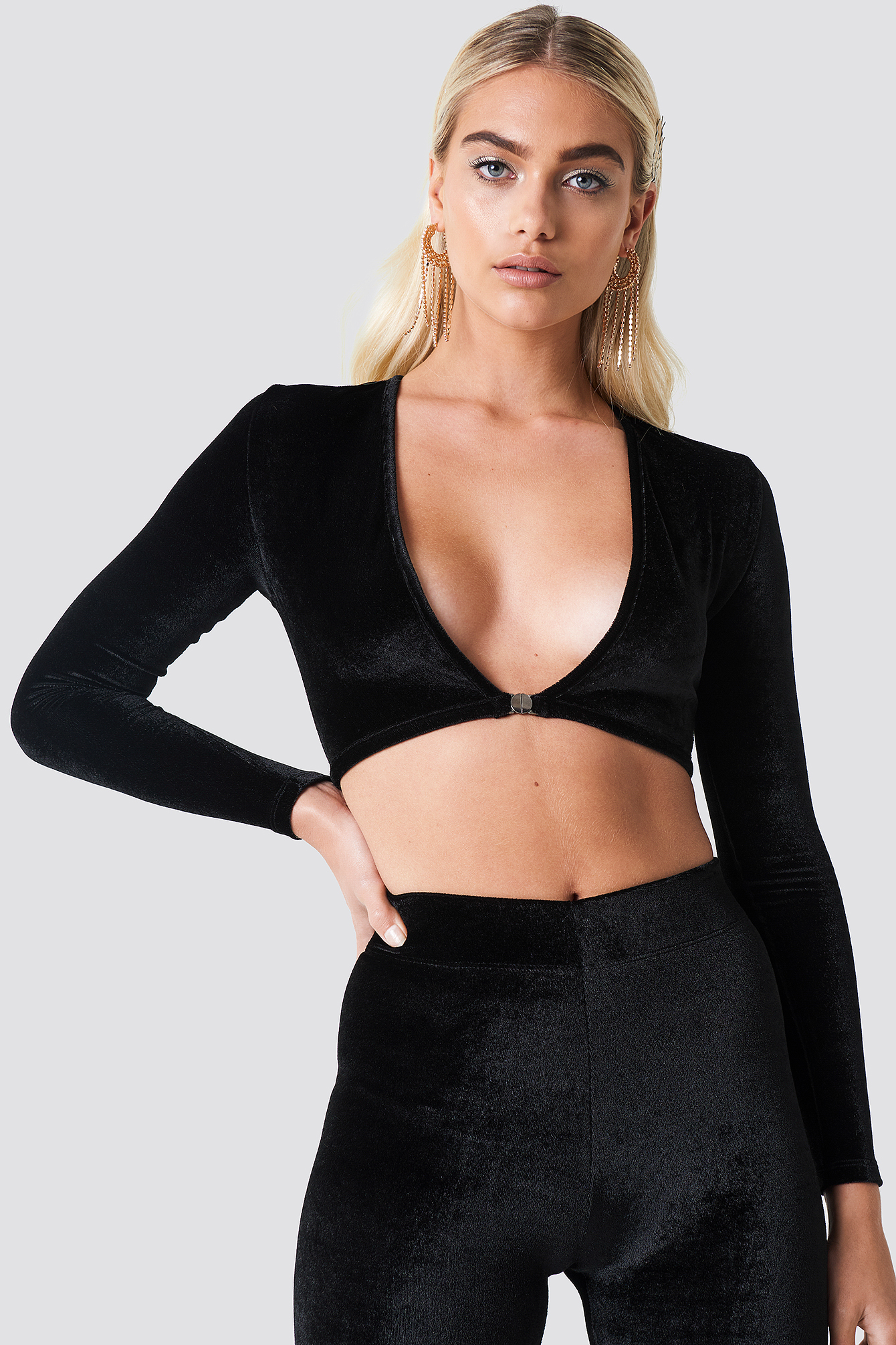 Tight Velvet Top NA-KD.COM