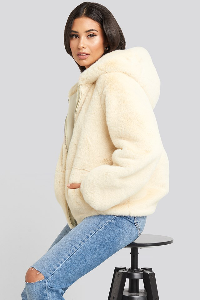 Faux Fur Hoodie Jacket Gerda x NA-KD
