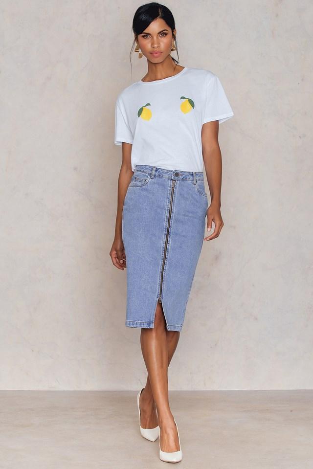 Agnete Skirt Venice Blue
