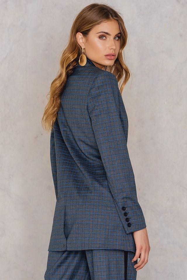 Asta Blazer Grey/Blue Check