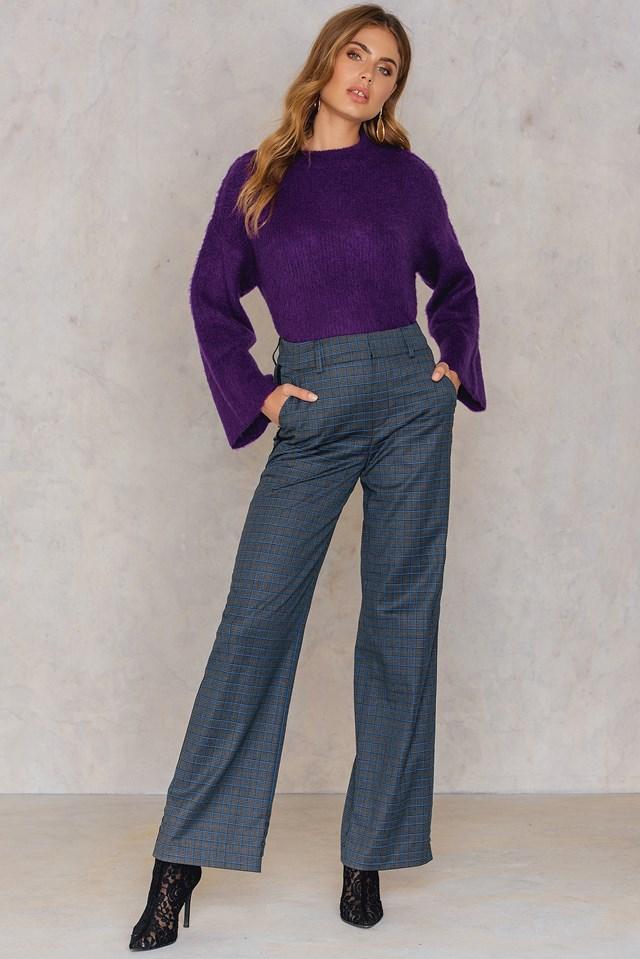 Asta Pants Grey/Blue Check