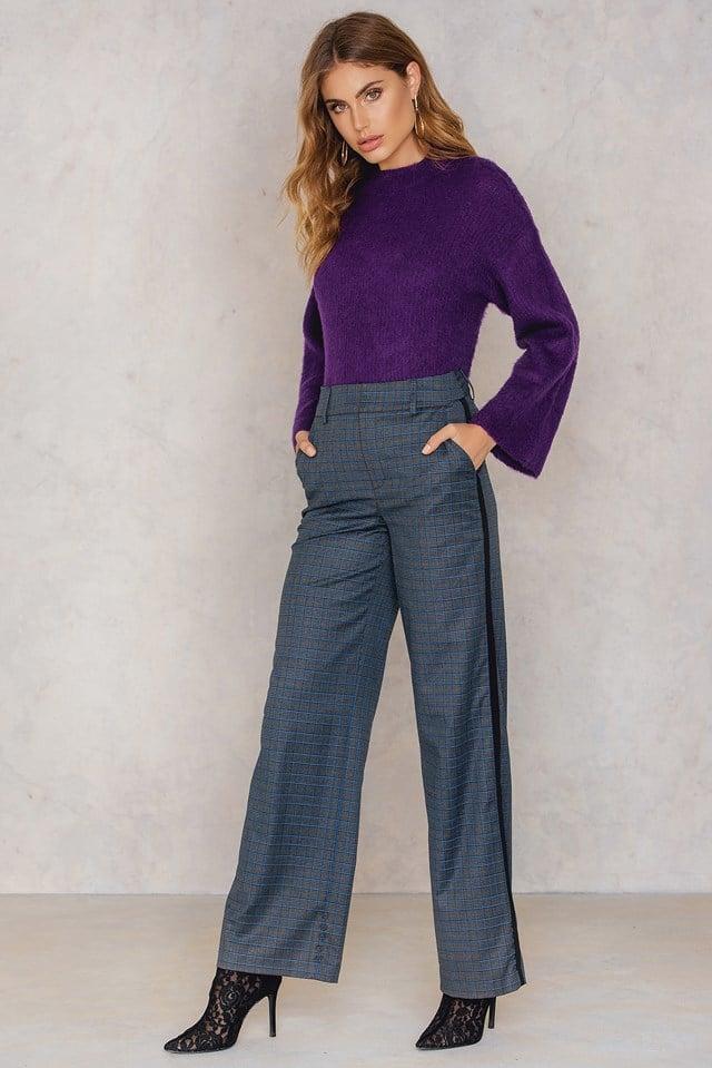 Spodnie Asta Grey/Blue Check