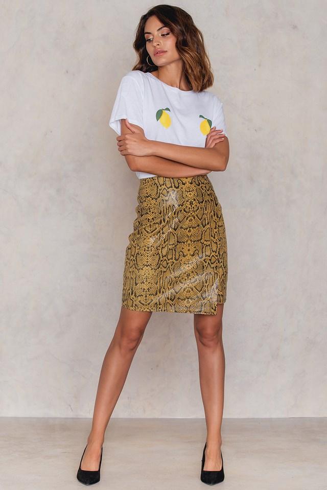 Calas Skirt Yellow Snake