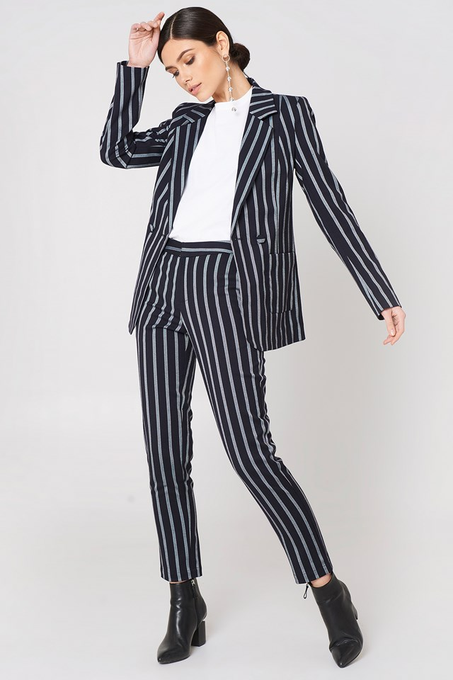 Cati Blazer Deep Well Stripe