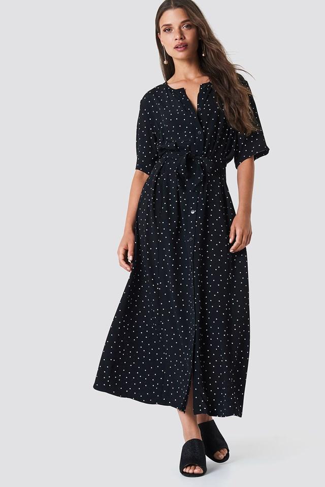 Harper Midi Dress Black Dot