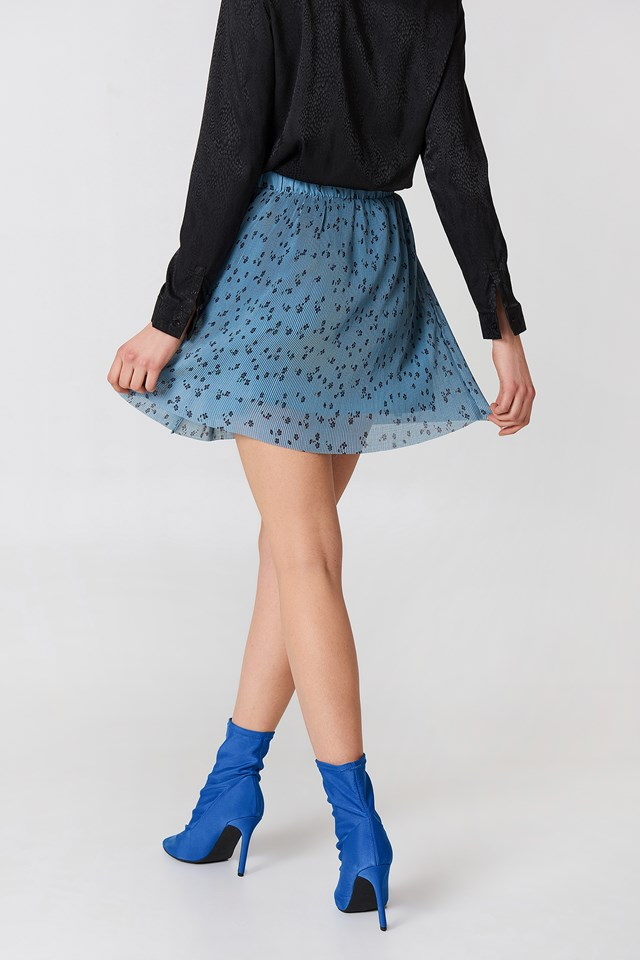 Jeanett Skirt Blue Flower