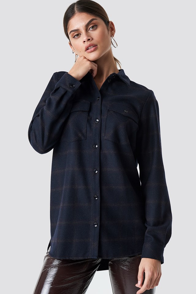 Jilla Shirt Sky Captain Check