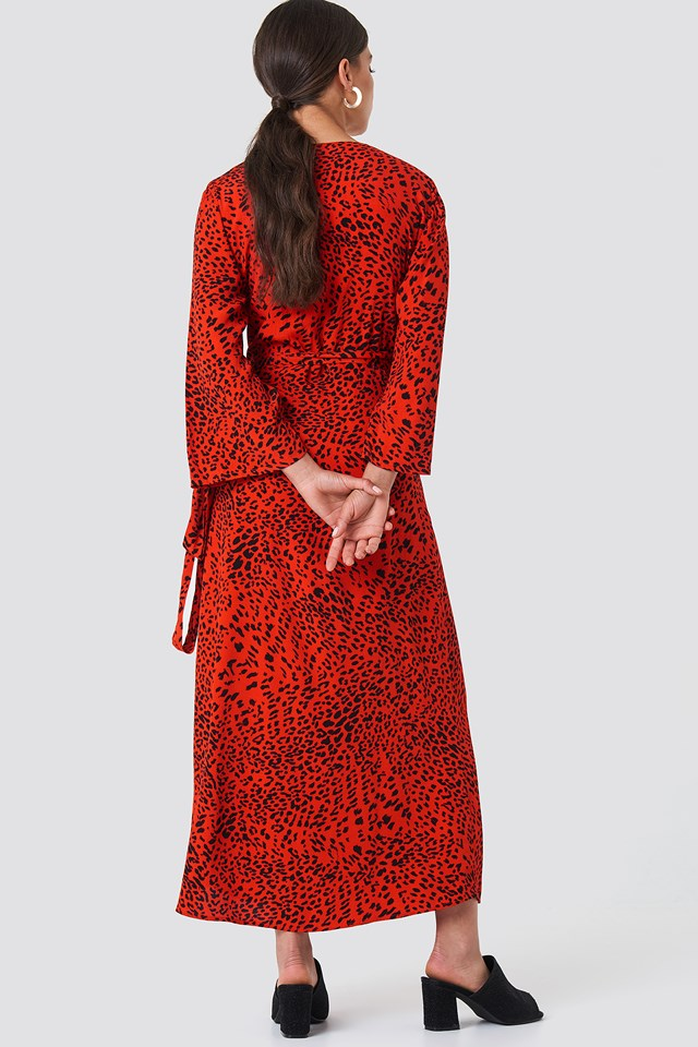 Loui Dress Red Leopard