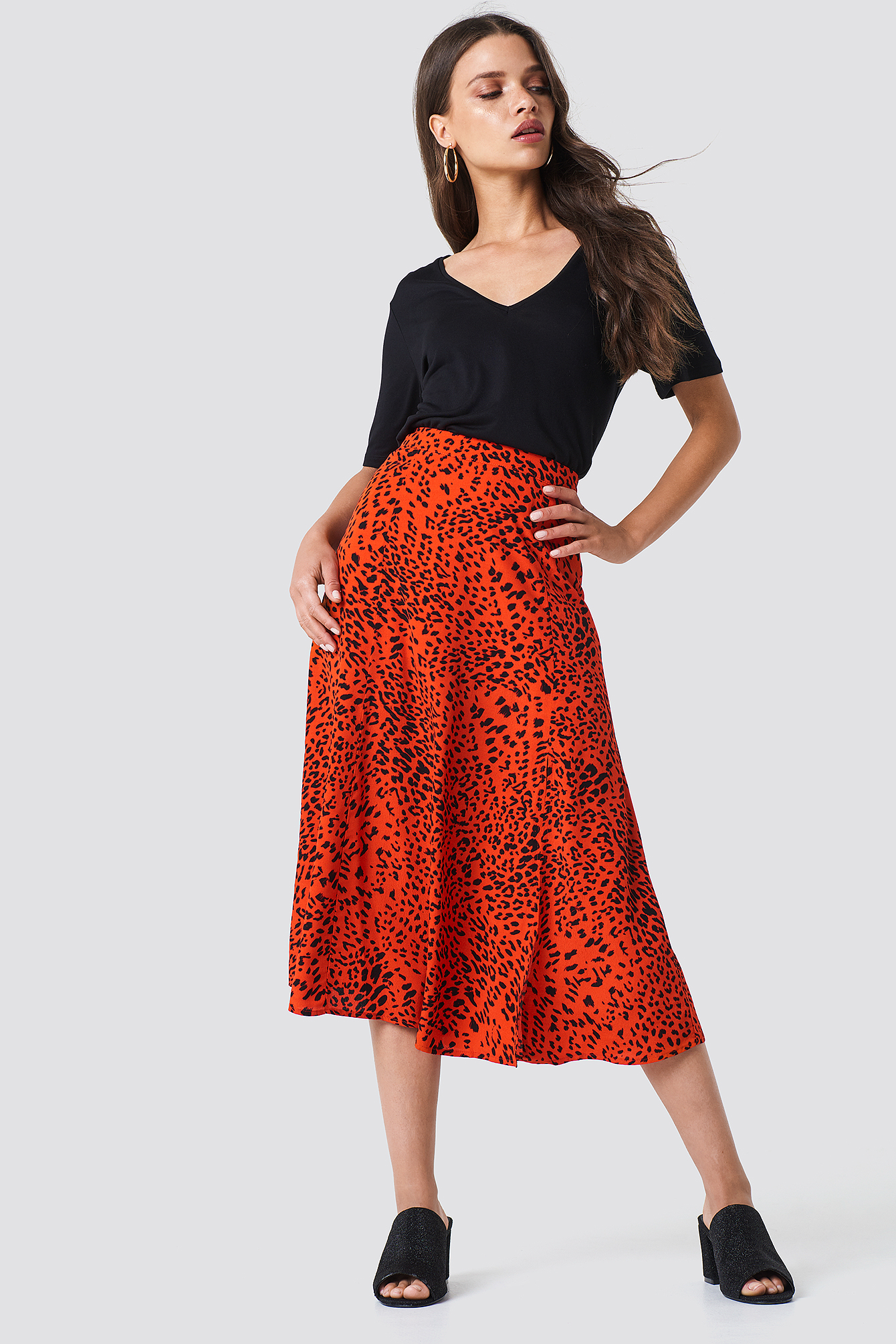 gestuz -  Loui Skirt - Red,Multicolor