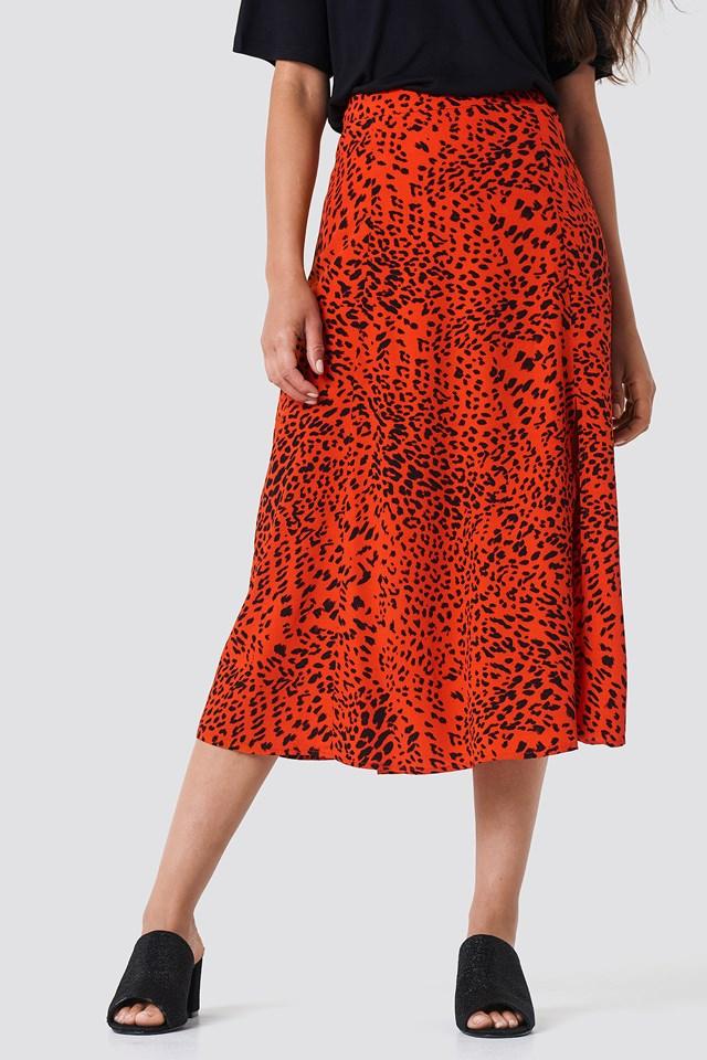 Loui Skirt Red Leopard