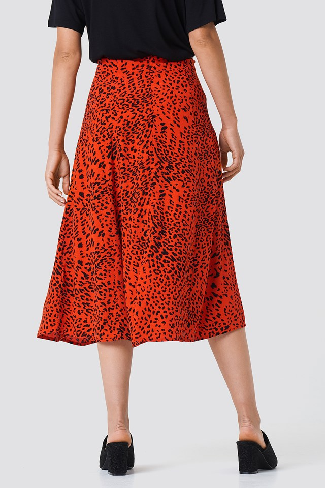 Loui Skirt Red Leopard