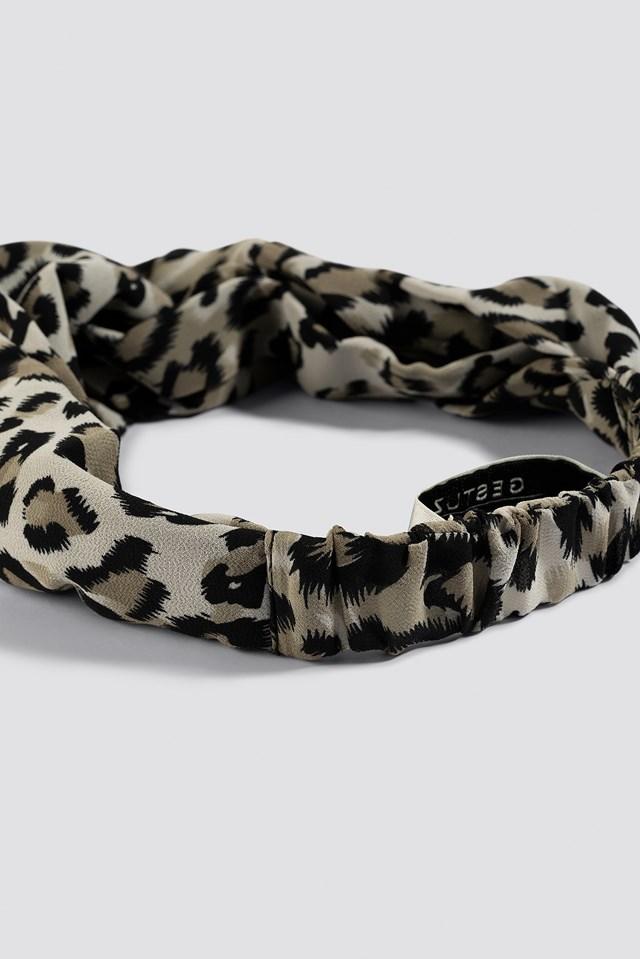 Lynx Hairband Beige Animal Print
