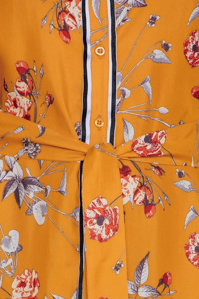 Moxie Long Shirt Inca Gold Flower
