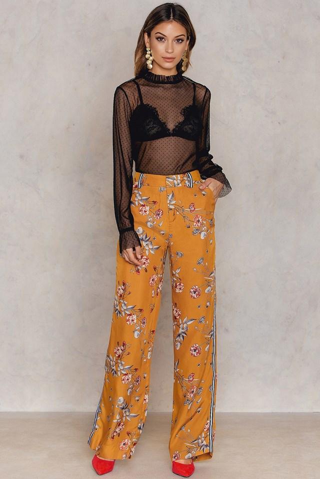 Moxie Pants Inca Gold Flower