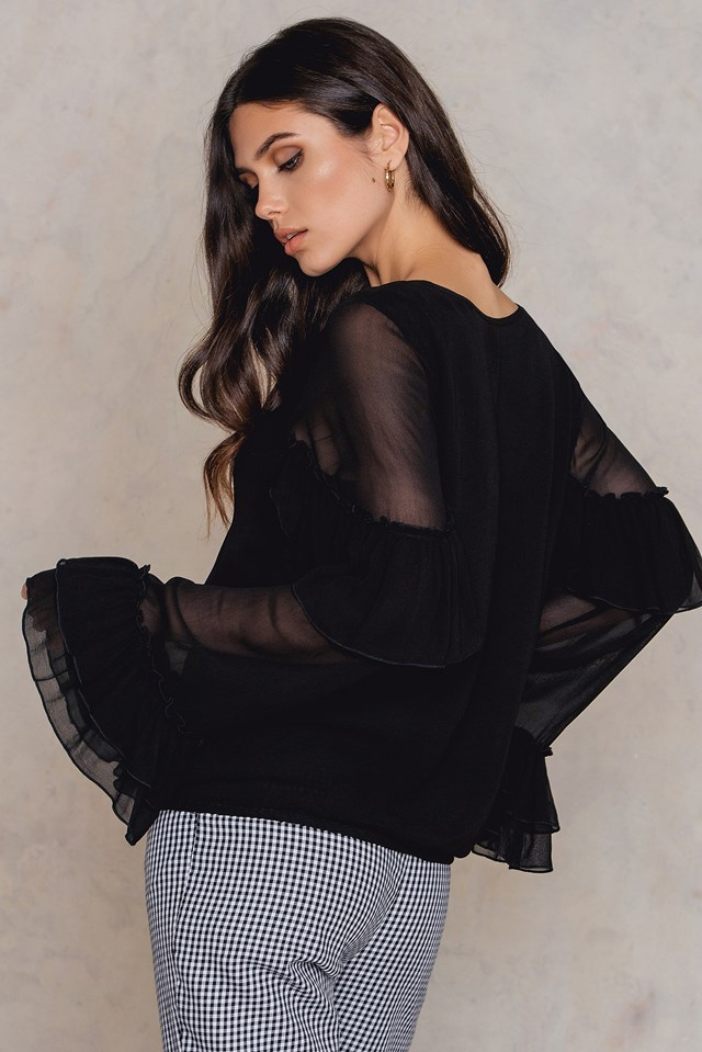 Pears Solid Blouse Black