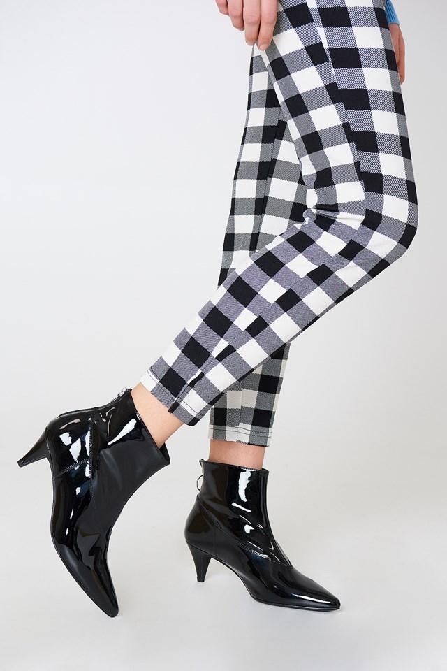 Sheba Patent Boot Black