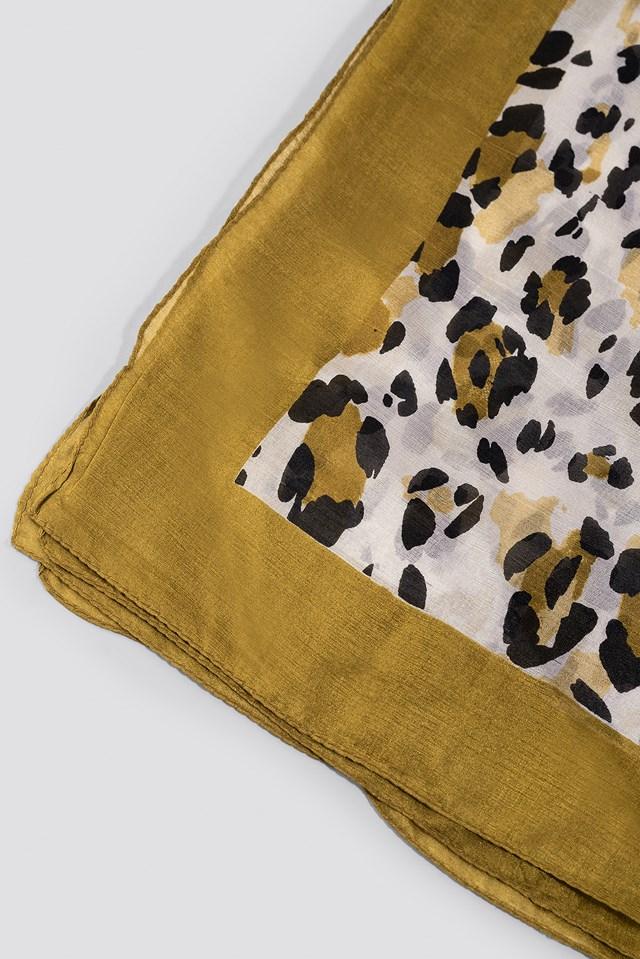 Sienna Scarf Golden Leopard