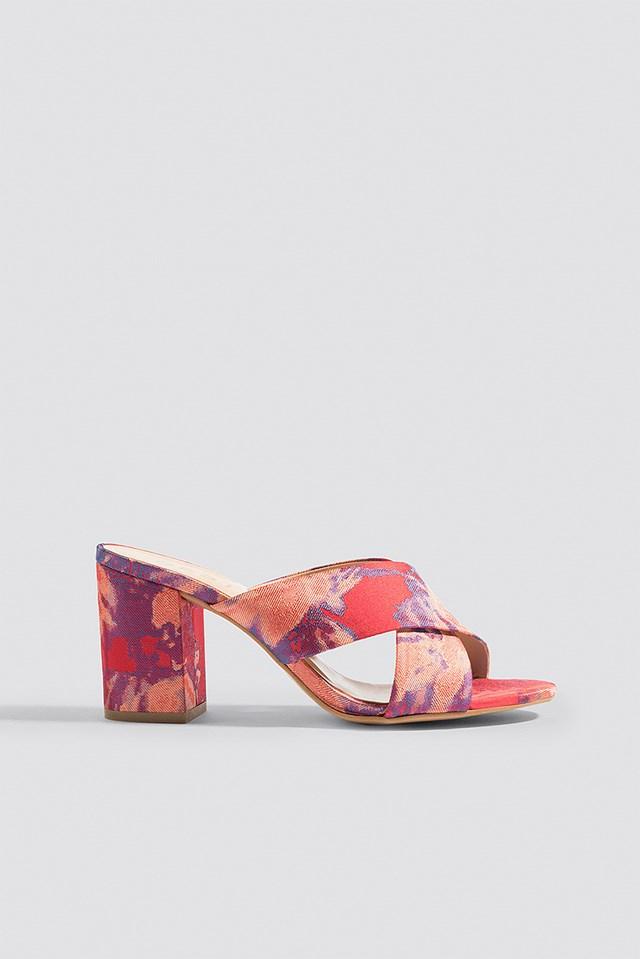 Soffy Mules Poinsettia