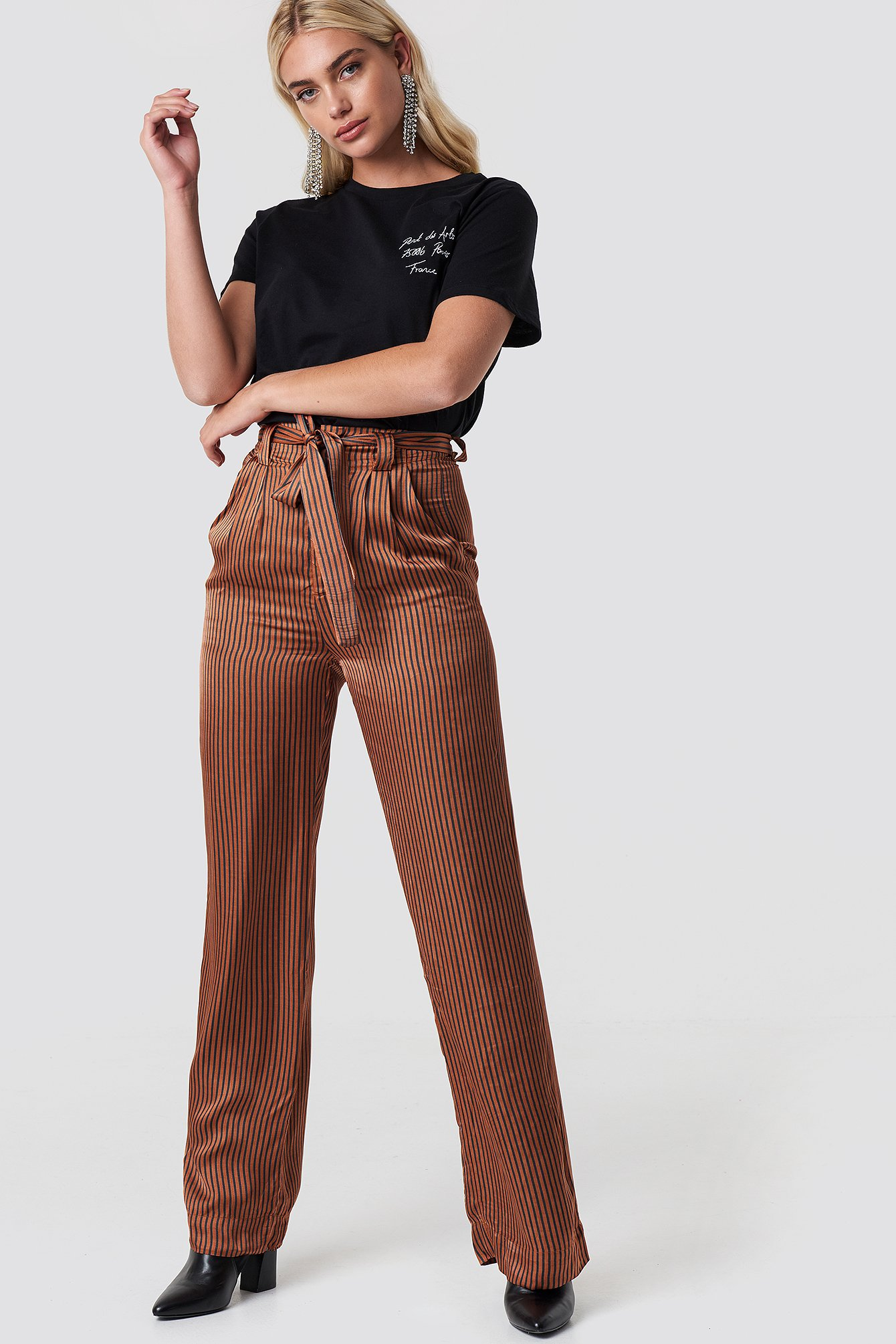 gestuz -  Veronica Pants - Orange,Copper