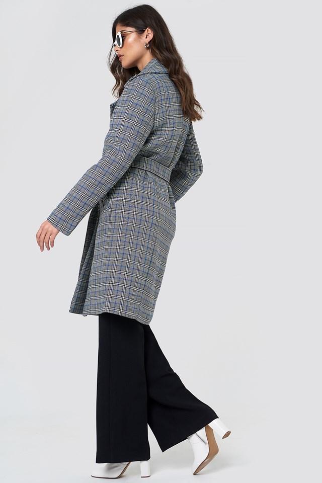 Vinne Coat Black/White Check