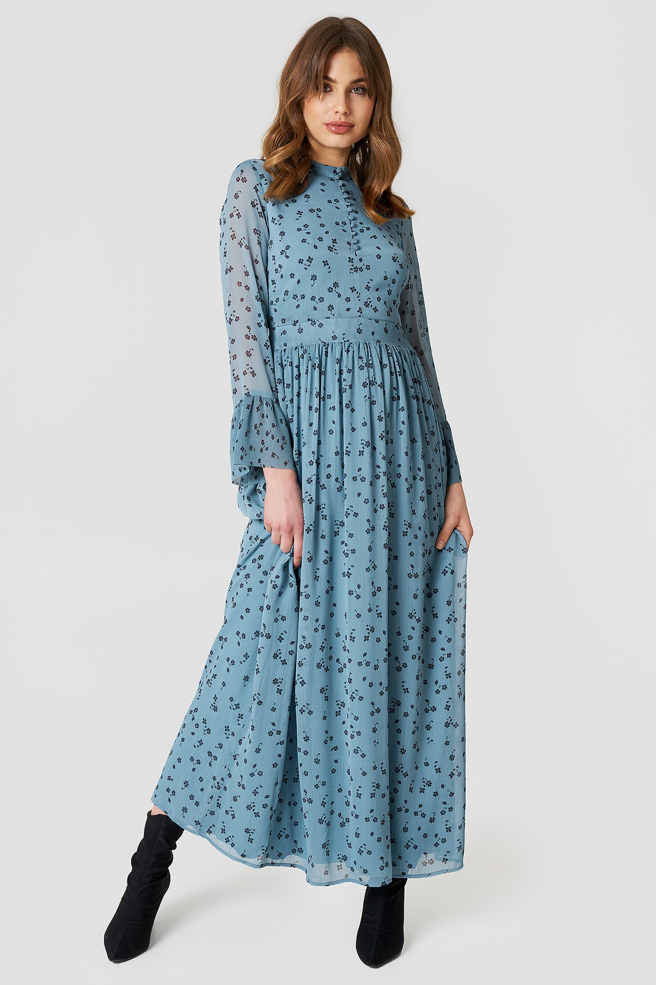 Jeanett Long Dress NA-KD.COM