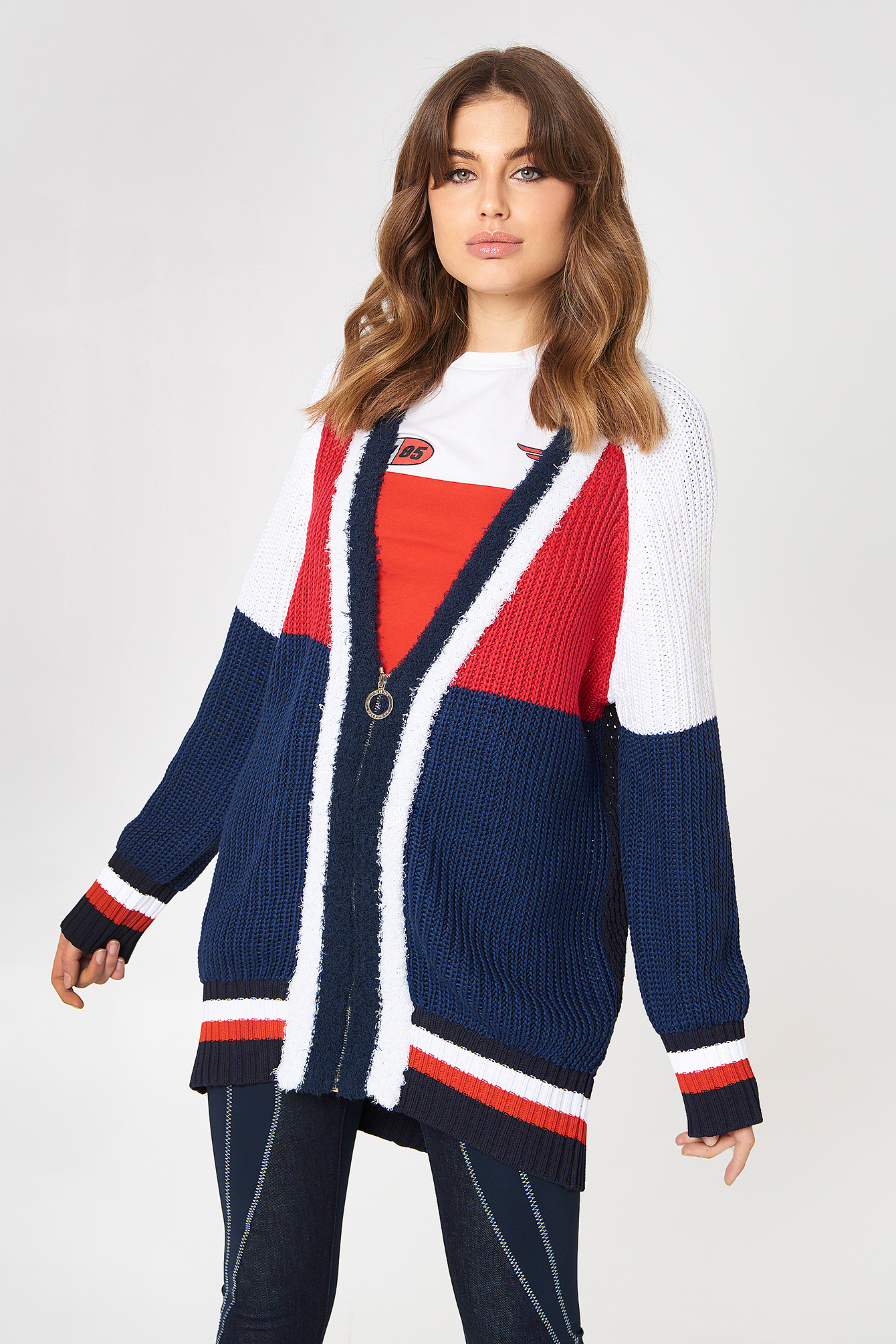 Buy Cheap Purchase Gigi Hadid Color Block Cardigan - Sales Up to -50% Tommy Hilfiger From China Low Shipping Fee GNFpX