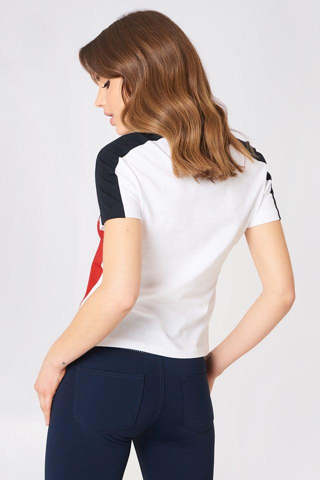 Gigi Hadid Speed SS T-Shirt Flame Scarlet/Classic White