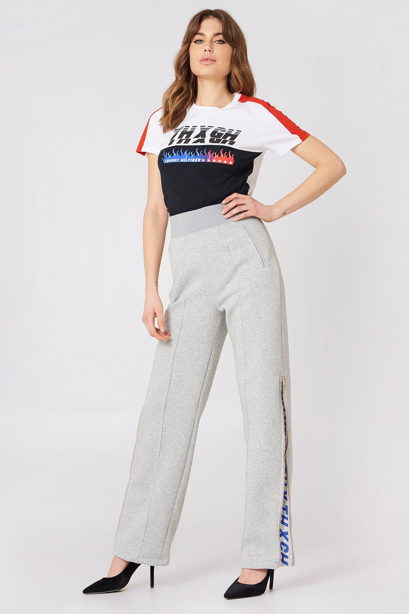 7b3306db7ba91 Tommy Hilfiger Tommy X Gigi Gigi Hadid Speed Ss T Shirt In Grey ...