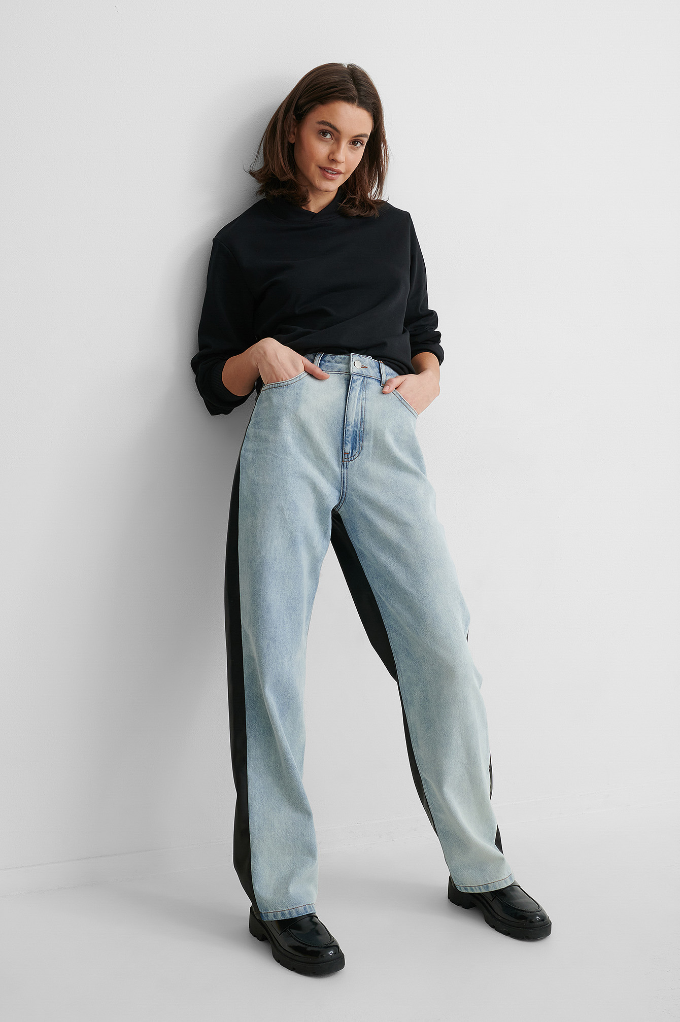 gine margrethe x na-kd -  Denim-Hose - Blue