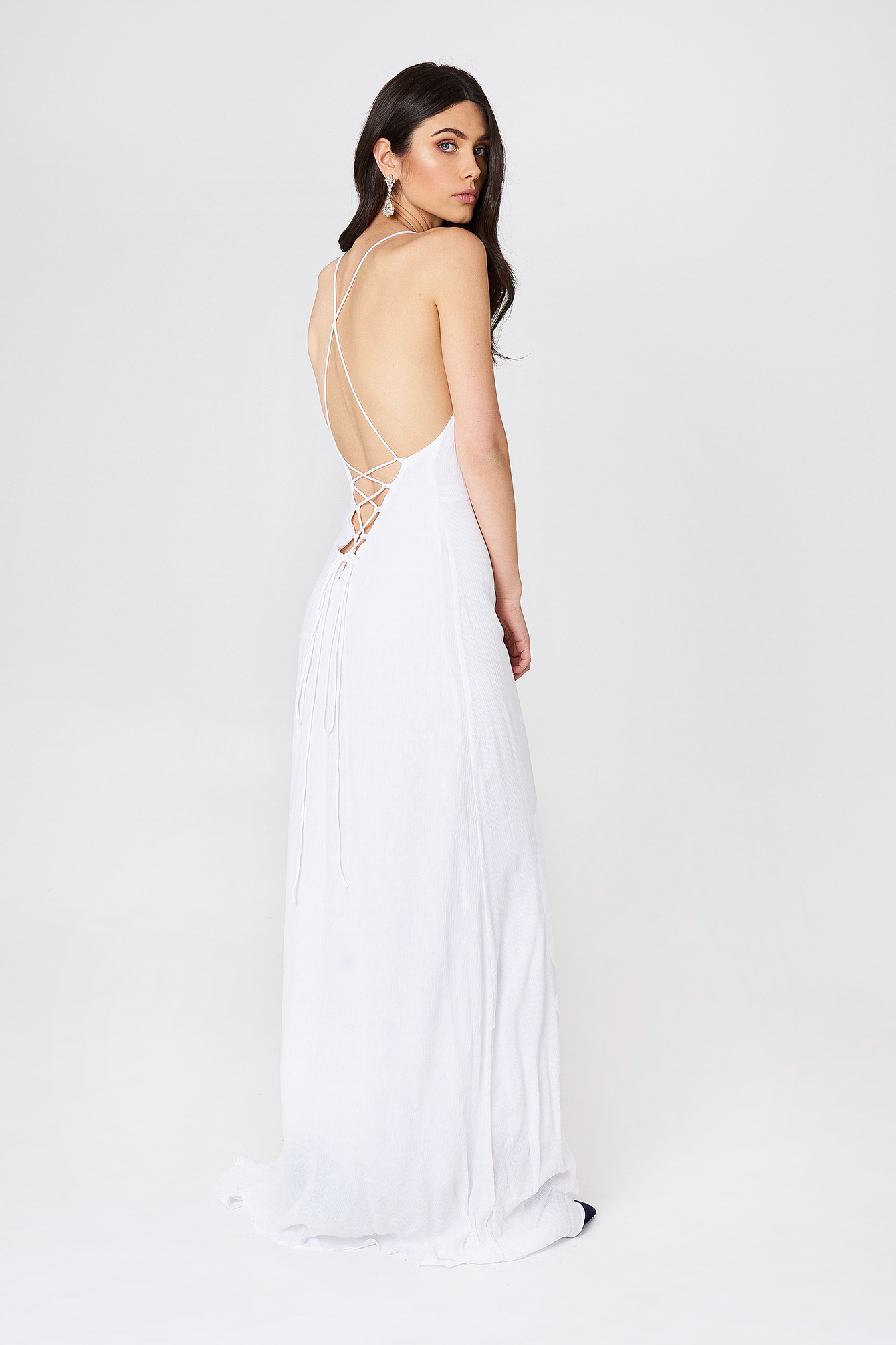 Detailed back maxi dress
