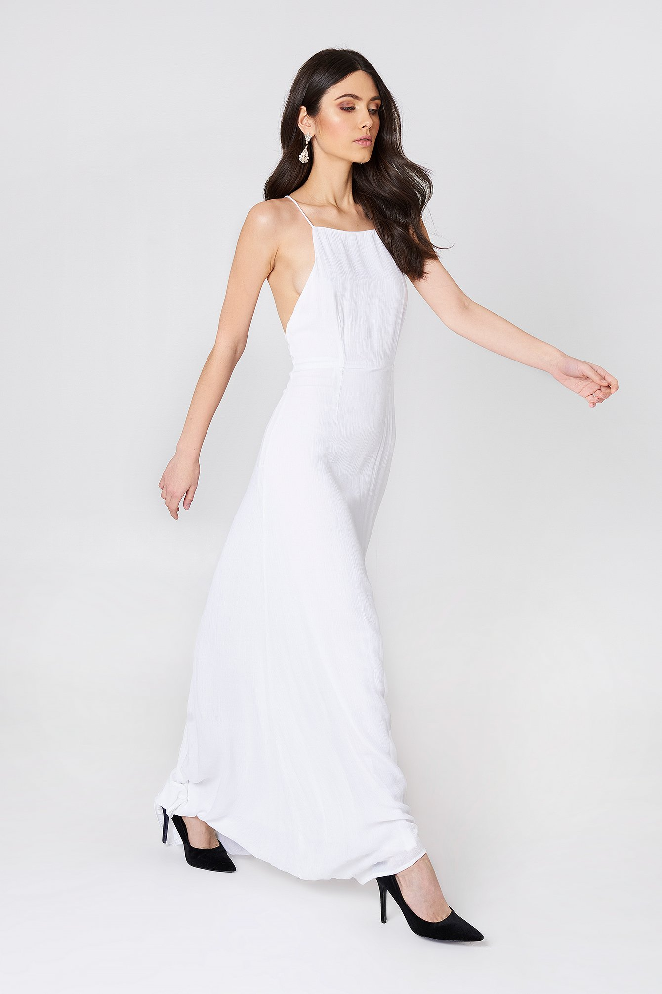 Luna Tie Back Maxi Dress NA-KD.COM