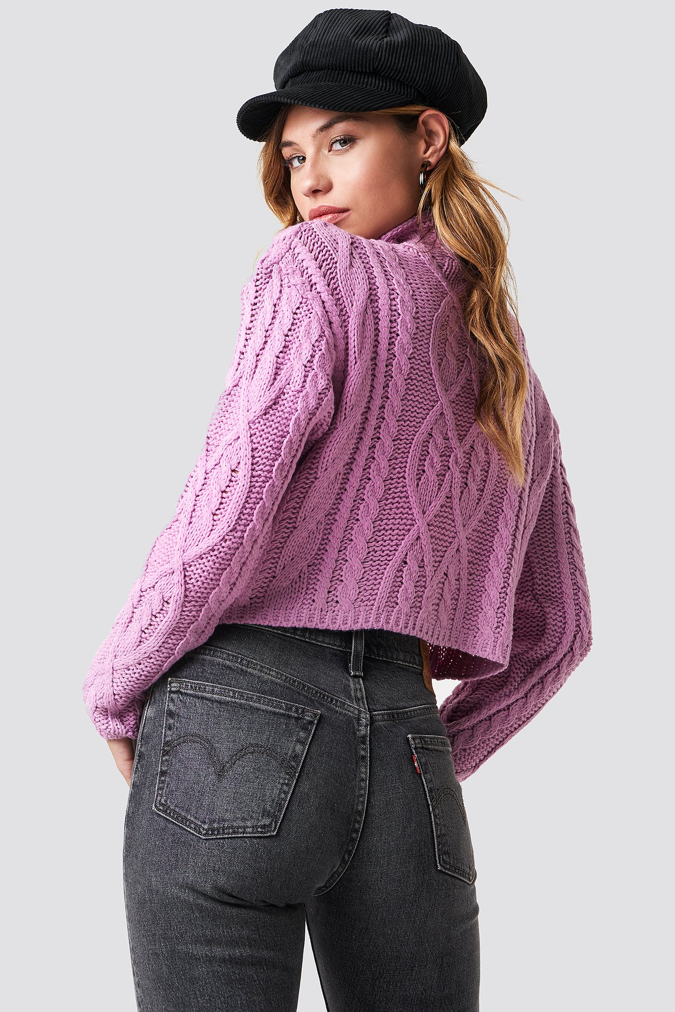 Cable Knitted Jumper NA-KD.COM