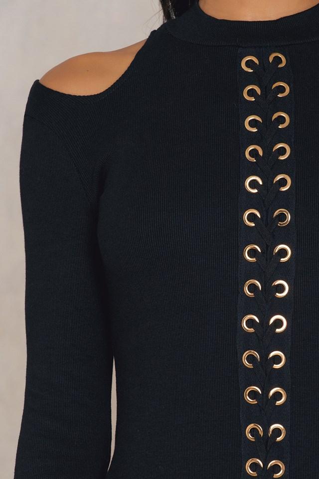 Cold Shoulder Dress Black