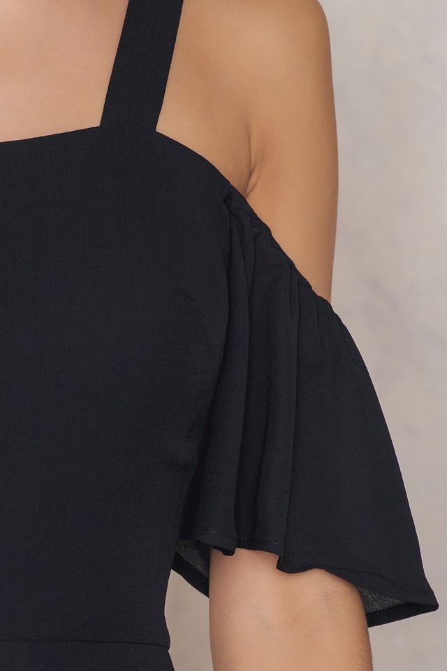 Cold Shoulder Jumpsuit Black