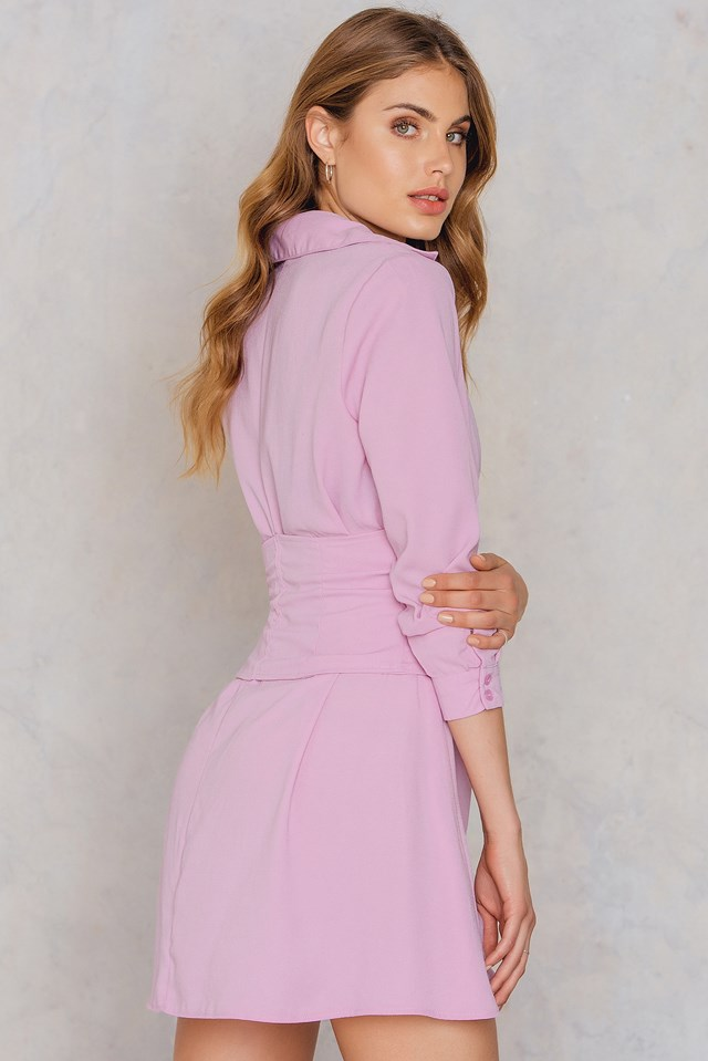 Corset Shirt Dress Lavender