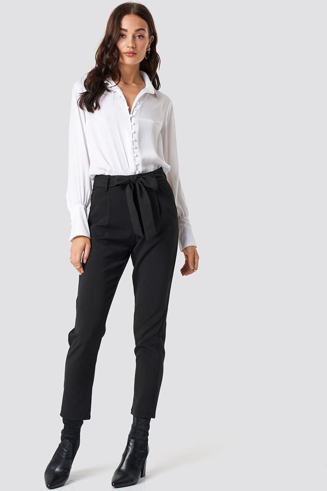 Culotte Belted Pants Black