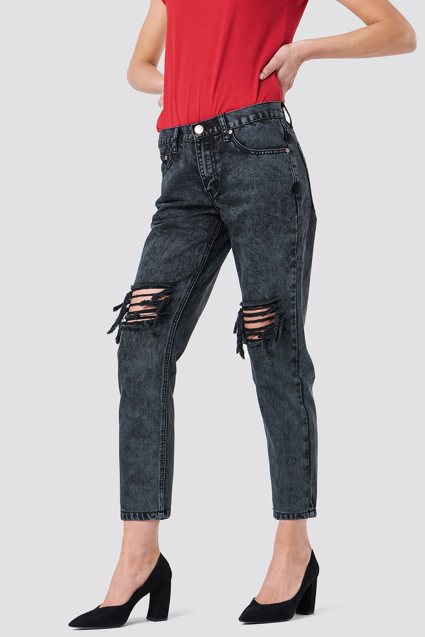 Distressed Baggy Jeans NA-KD.COM