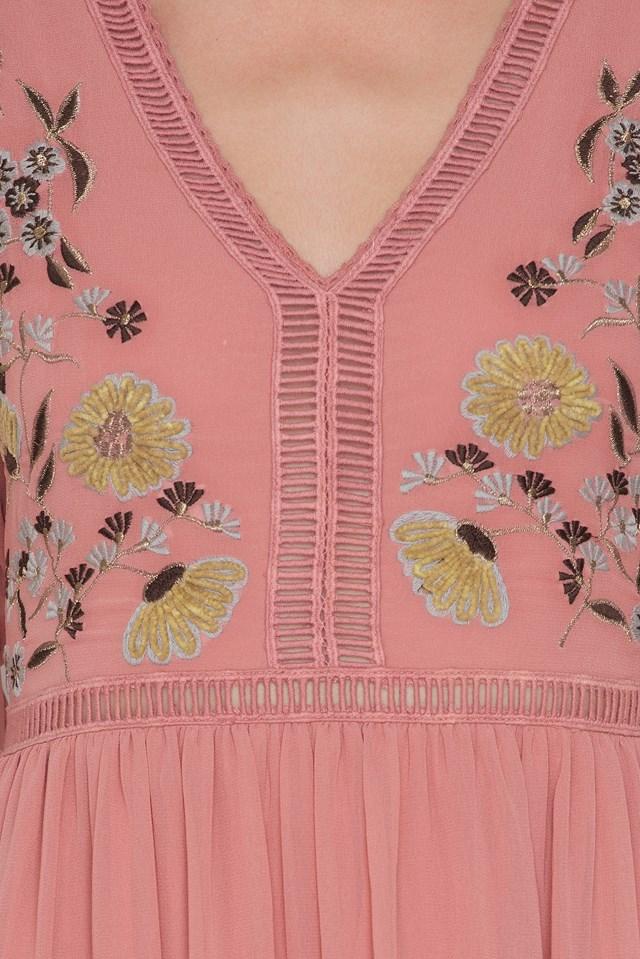Embroidery Maxi Dress NA-KD.COM