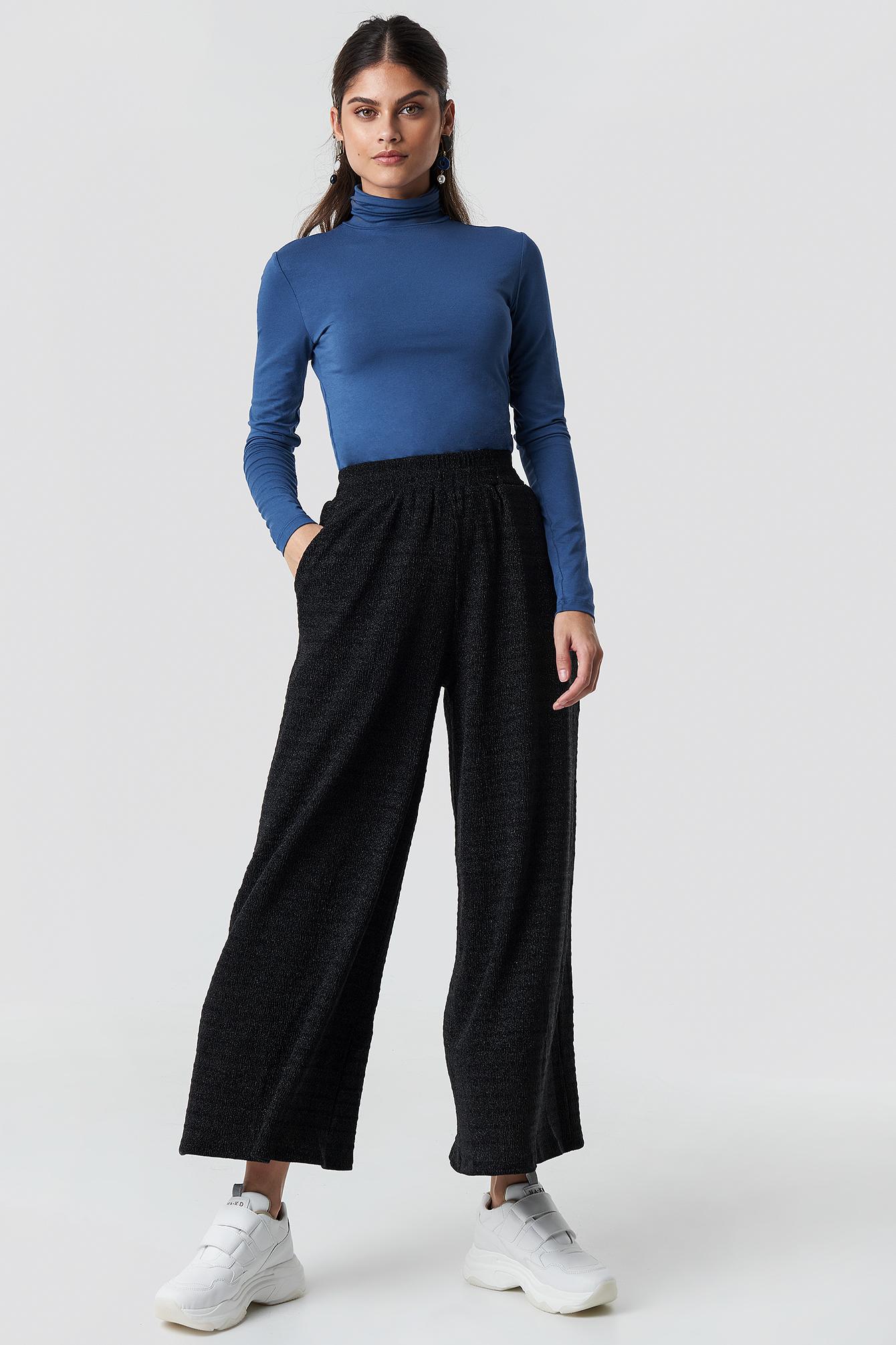 glamorous -  Flared Pants - Black,Silver