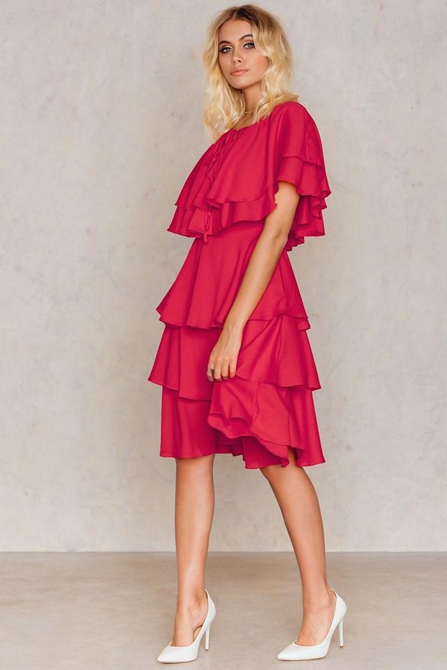 Frill Dress Red