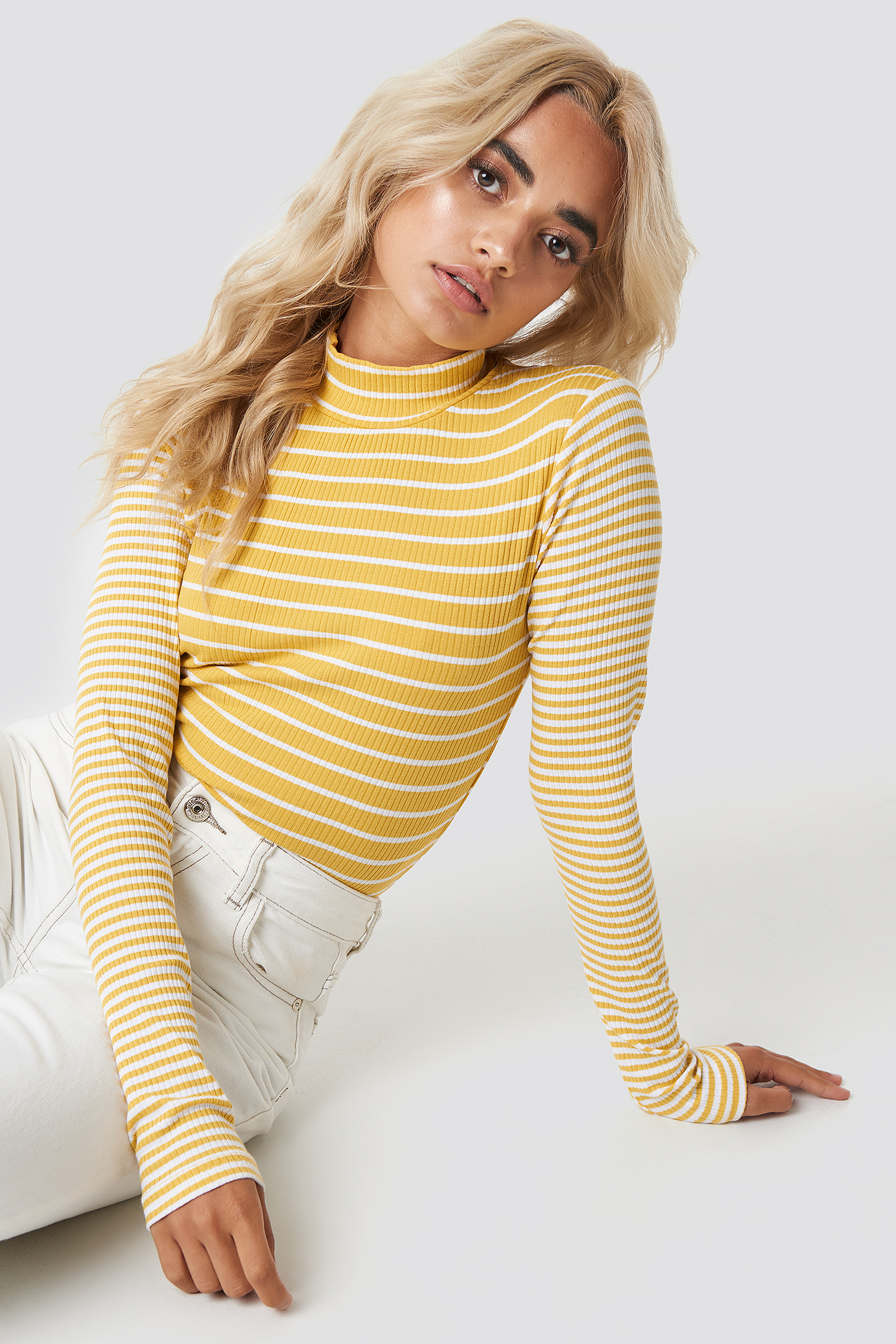 glamorous -  High Neck Top - Yellow