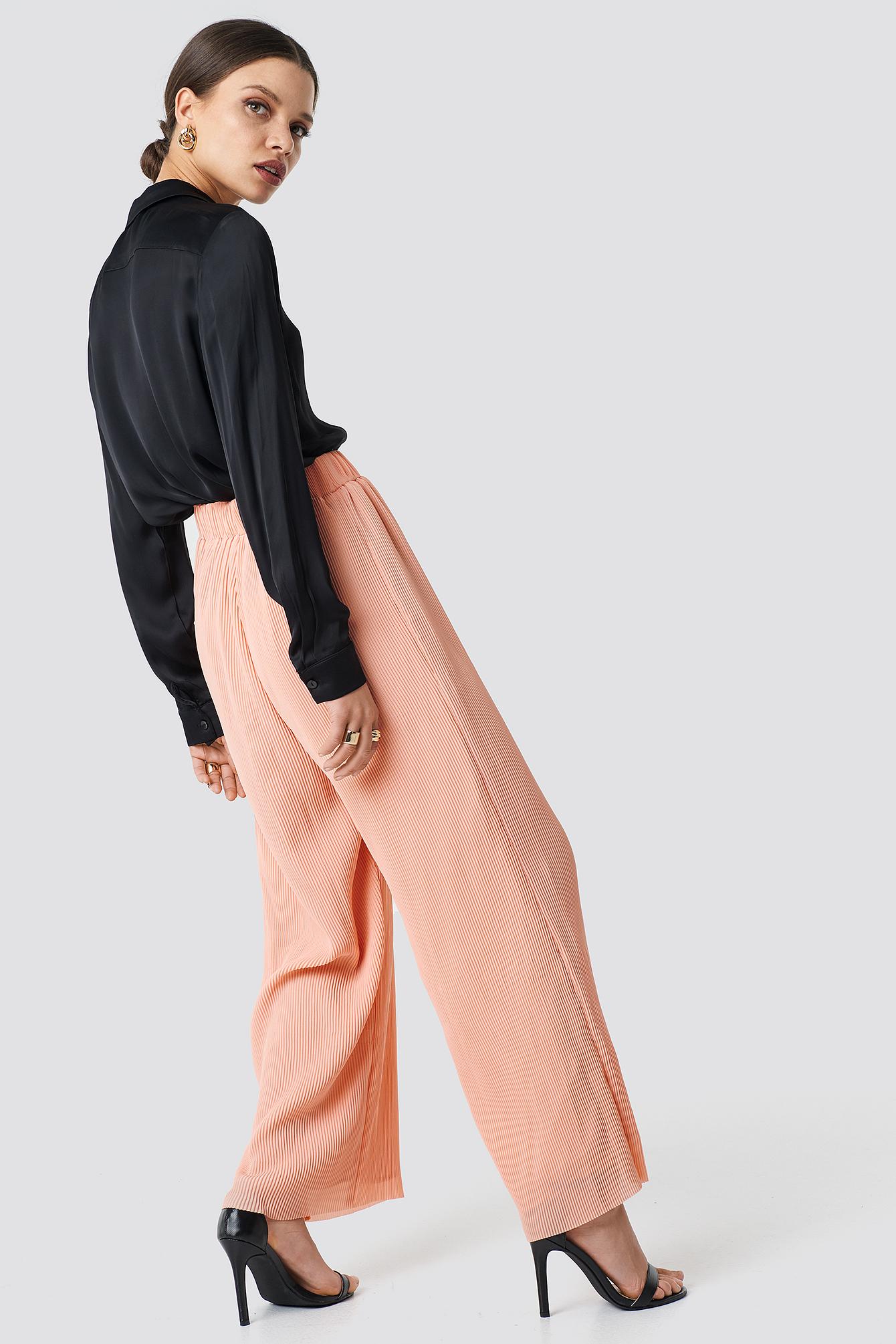 High Waist Wide Trousers NA-KD.COM
