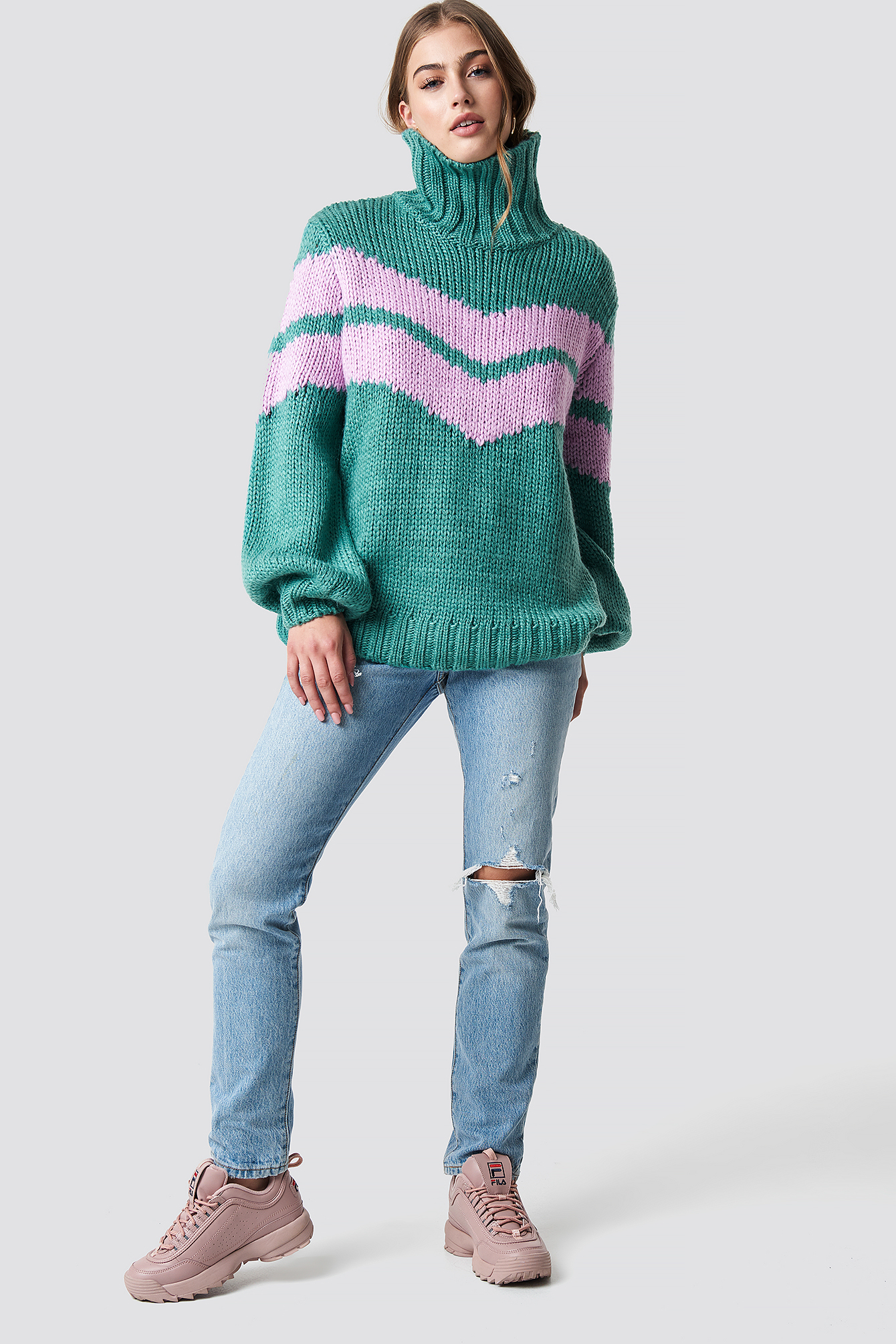 Knitted Polo Jumper NA-KD.COM