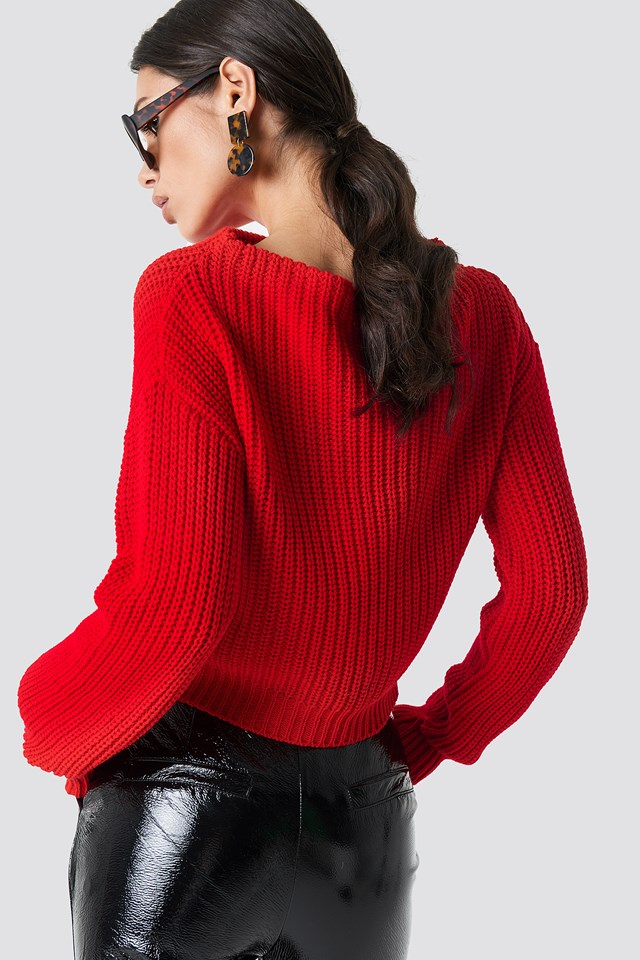 Knitted Sweater Red