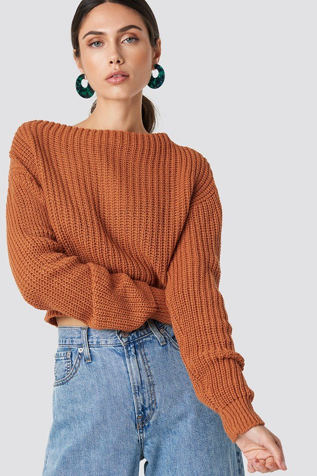 Knitted Sweater Cinnamon