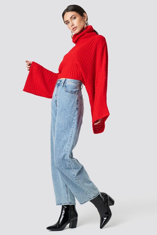 Knitted Wide Sleeve Sweater NA-KD.COM