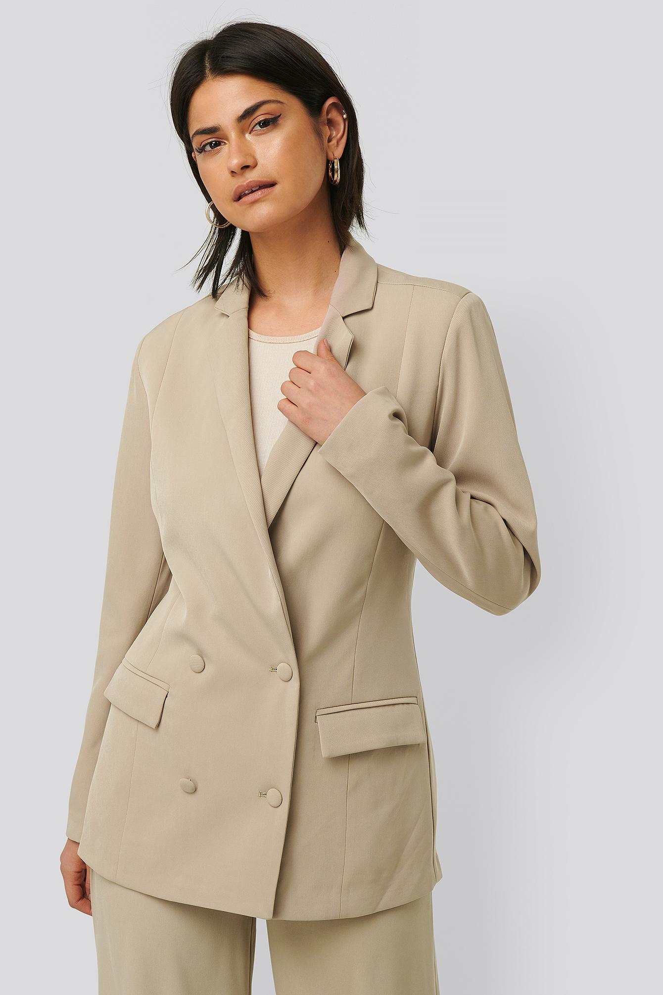 Glamorous Oversize-Blazer - Beige | Bekleidung > Blazer > Sonstige Blazer | Glamorous