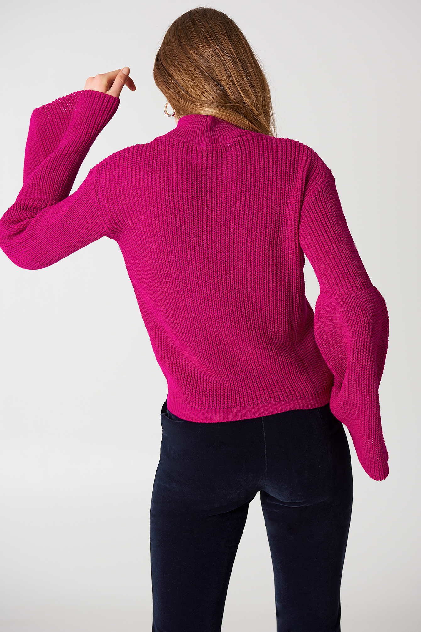 Long Sleeve Knitted Top NA-KD.COM