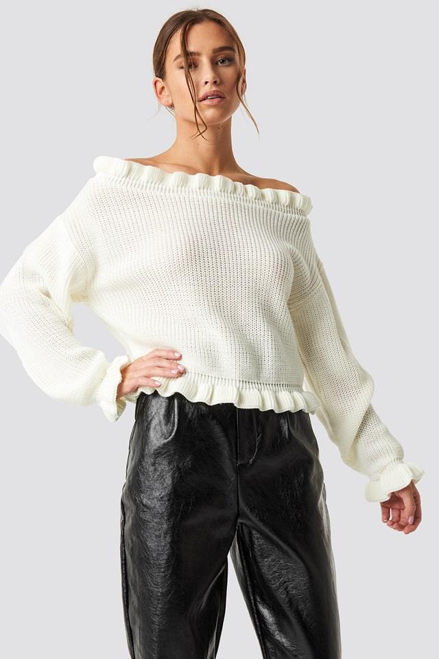 Sweter z odkrytymi ramionami Off White