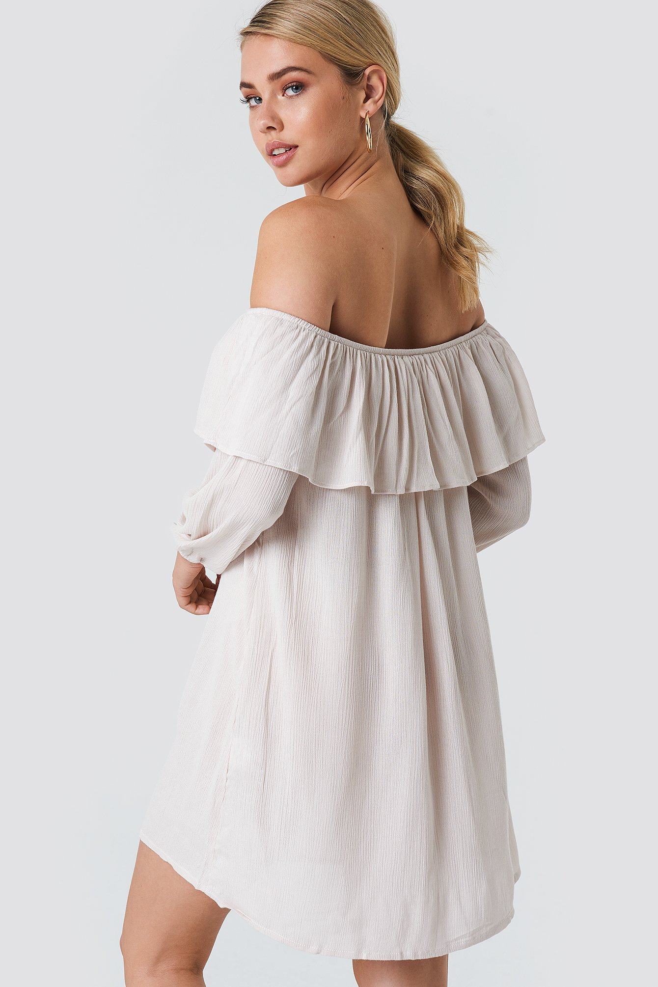 Off Shoulder Midi Dress NA-KD.COM